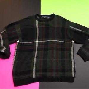 Trader Bay Oversized Plaid Sweater